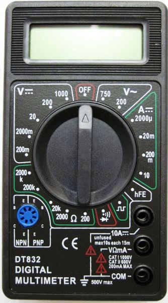 dt-838 digital multimeter инструкция узнать полярность