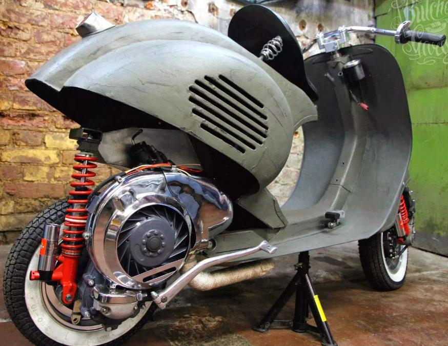 Как заменить двигатель Vespa на двигатель мотоцикла
