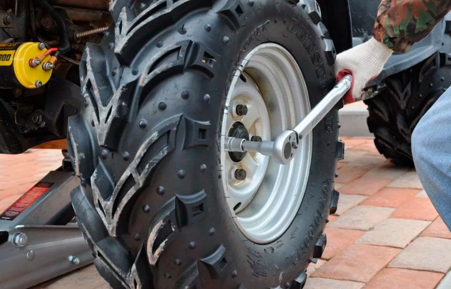 Как заменить шины ATV