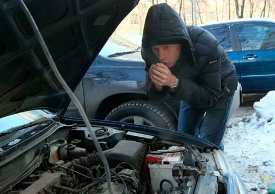 Какзавестидвигательвсильныймороз?