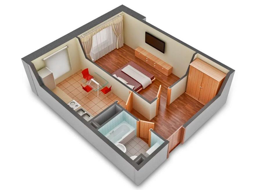 Виды однокомнатных квартир и их особенности